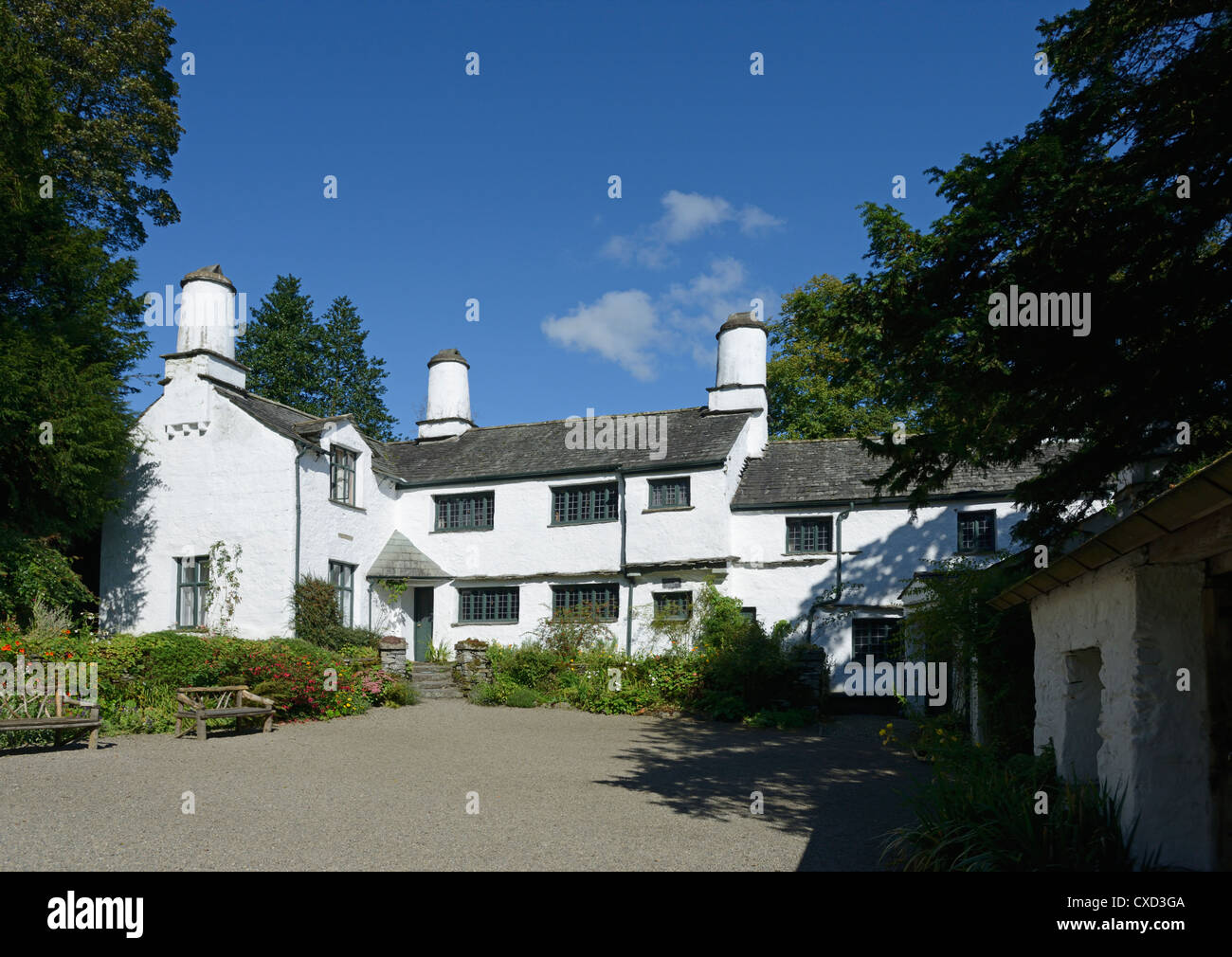 Townend, Troutbeck, Lake District National Park, Cumbria, England, United Kingdom, Europe. - Stock Image