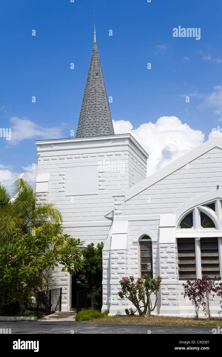 Elmslie Memorial United Church, George Town, Grand Cayman, Cayman Islands, Greater Antilles, West Indies - Stock Image