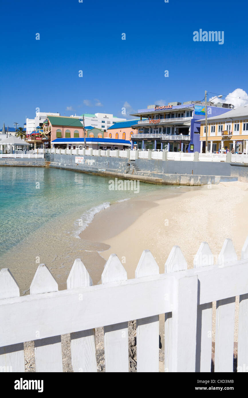 Stores on Harbour Drive, George Town, Grand Cayman, Cayman Islands, Greater Antilles, West Indies, Caribbean, Central - Stock Image