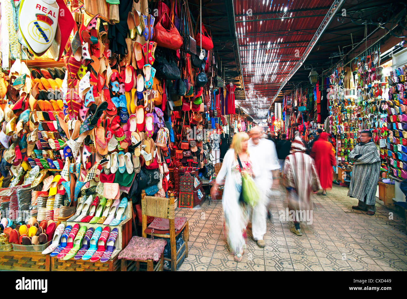 In the souk, Marrakech, Morocco, North Africa, Africa - Stock Image