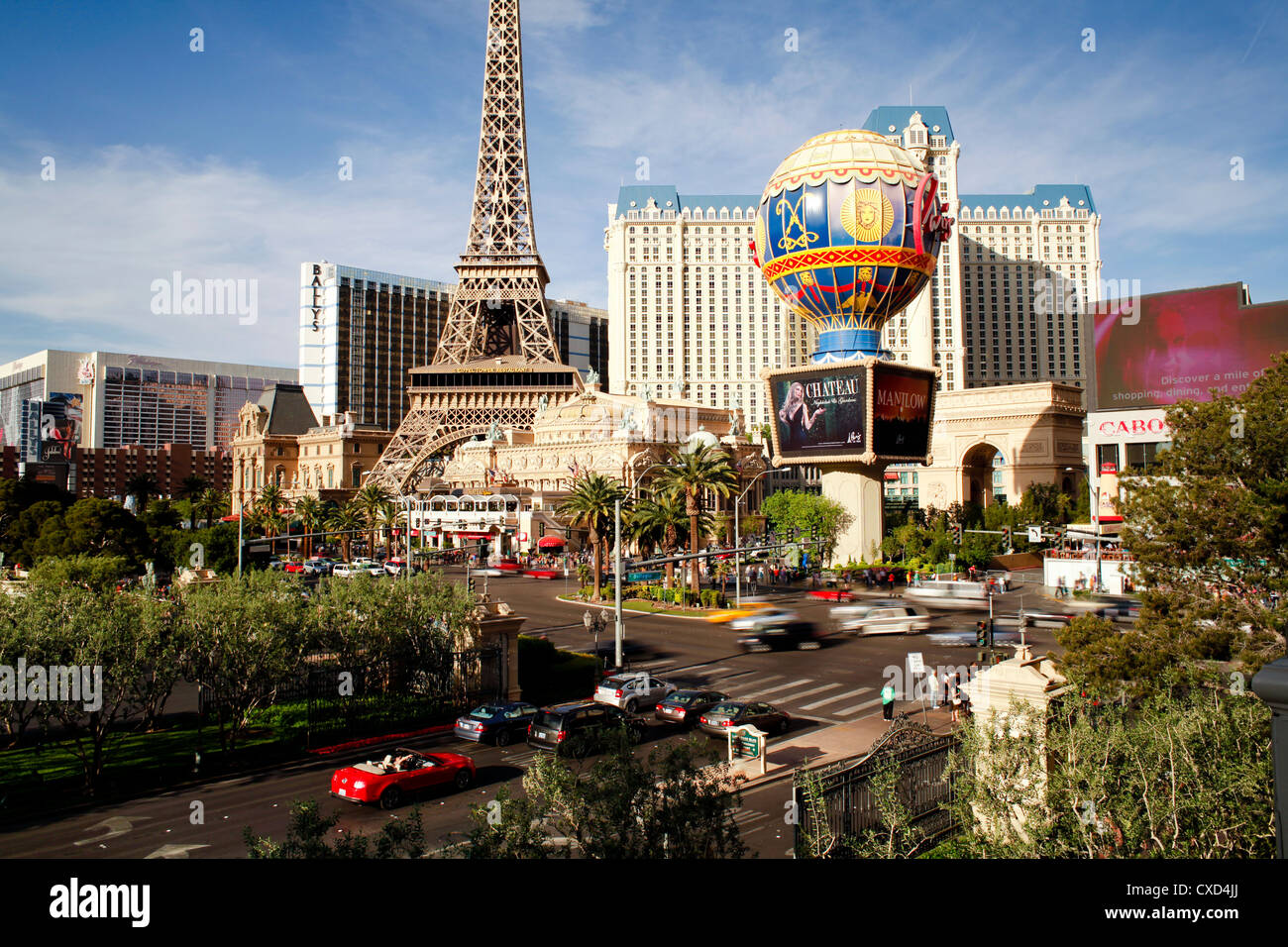 Paris Casino on The Strip, Las Vegas, Nevada, United States of America, North America Stock Photo
