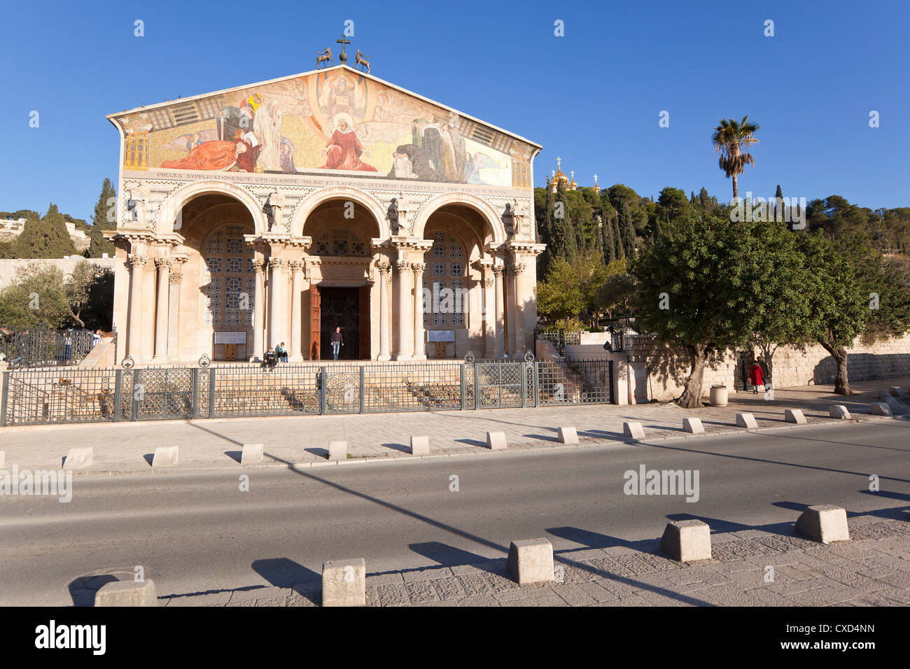 The Church of All Nations, Mount of Olives, Jerusalem, Israel, Middle East - Stock Image