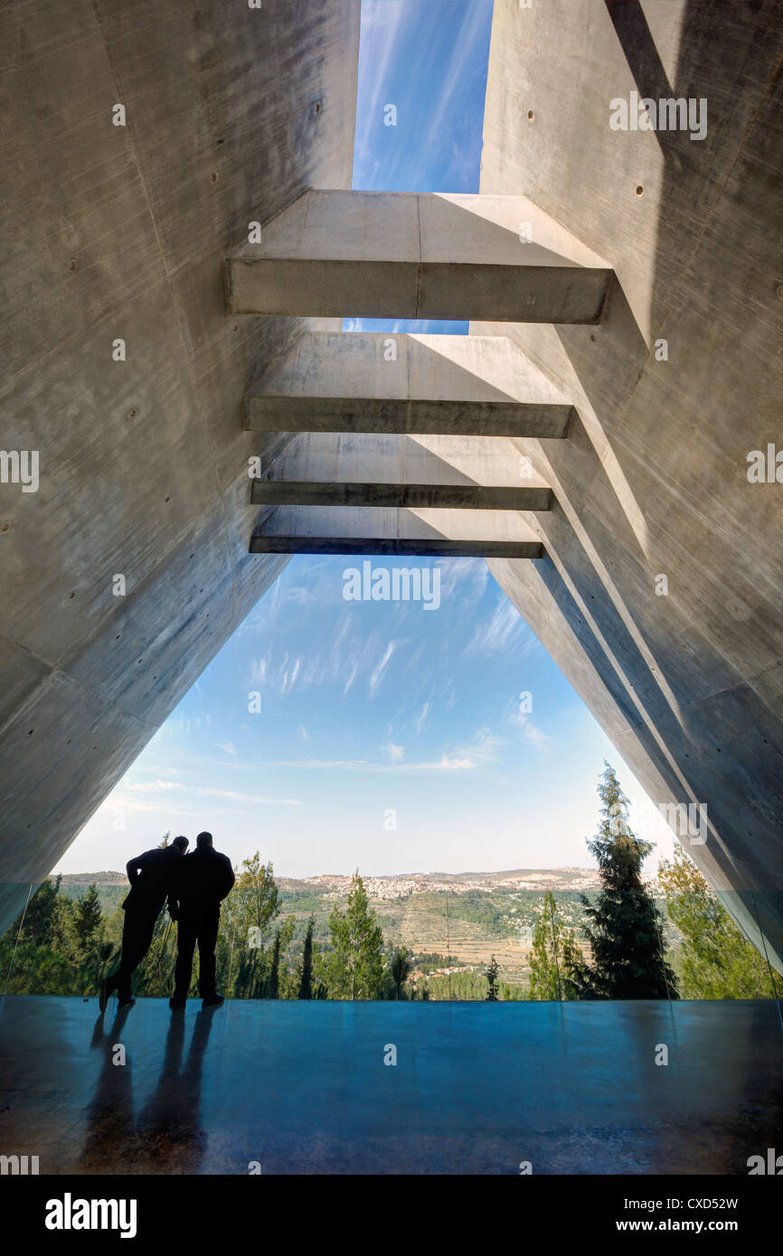 Yad Vashem, Holocaust Museum, Memorial to the victims in Camps, Jerusalem, Israel, Middle East - Stock Image