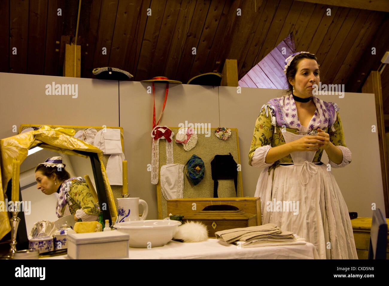 Costumed interpreter, New France Festival, Quebec City, Canada - Stock Image