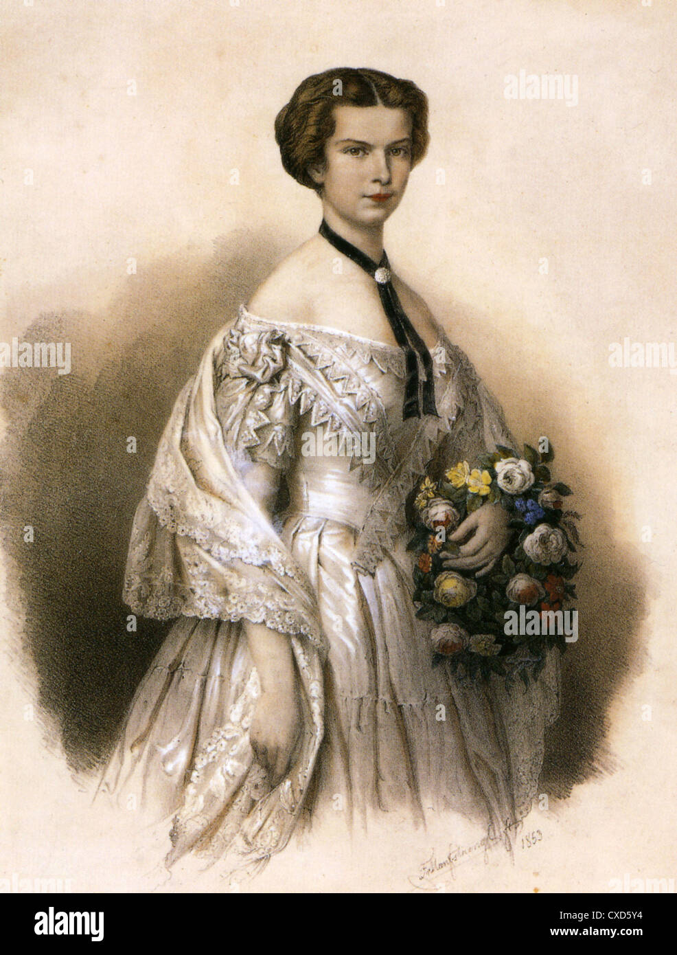 EMPRESS ELISABETH OF AUSTRIA (1837-1898) also Queen of Hungary - Stock Image