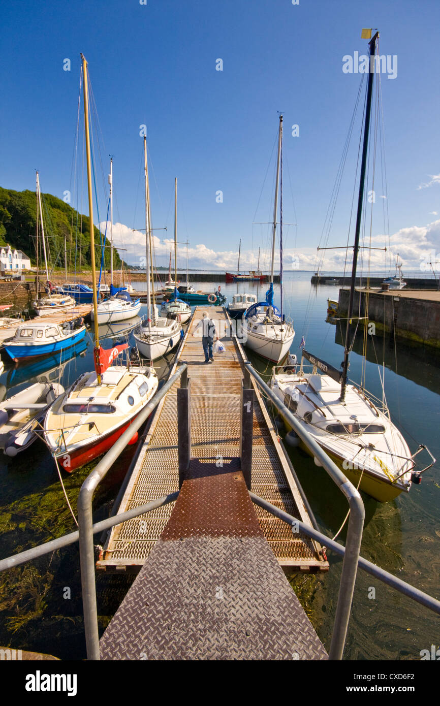 Summer at Avoch Harbour on the Moray Firth Stock Photo