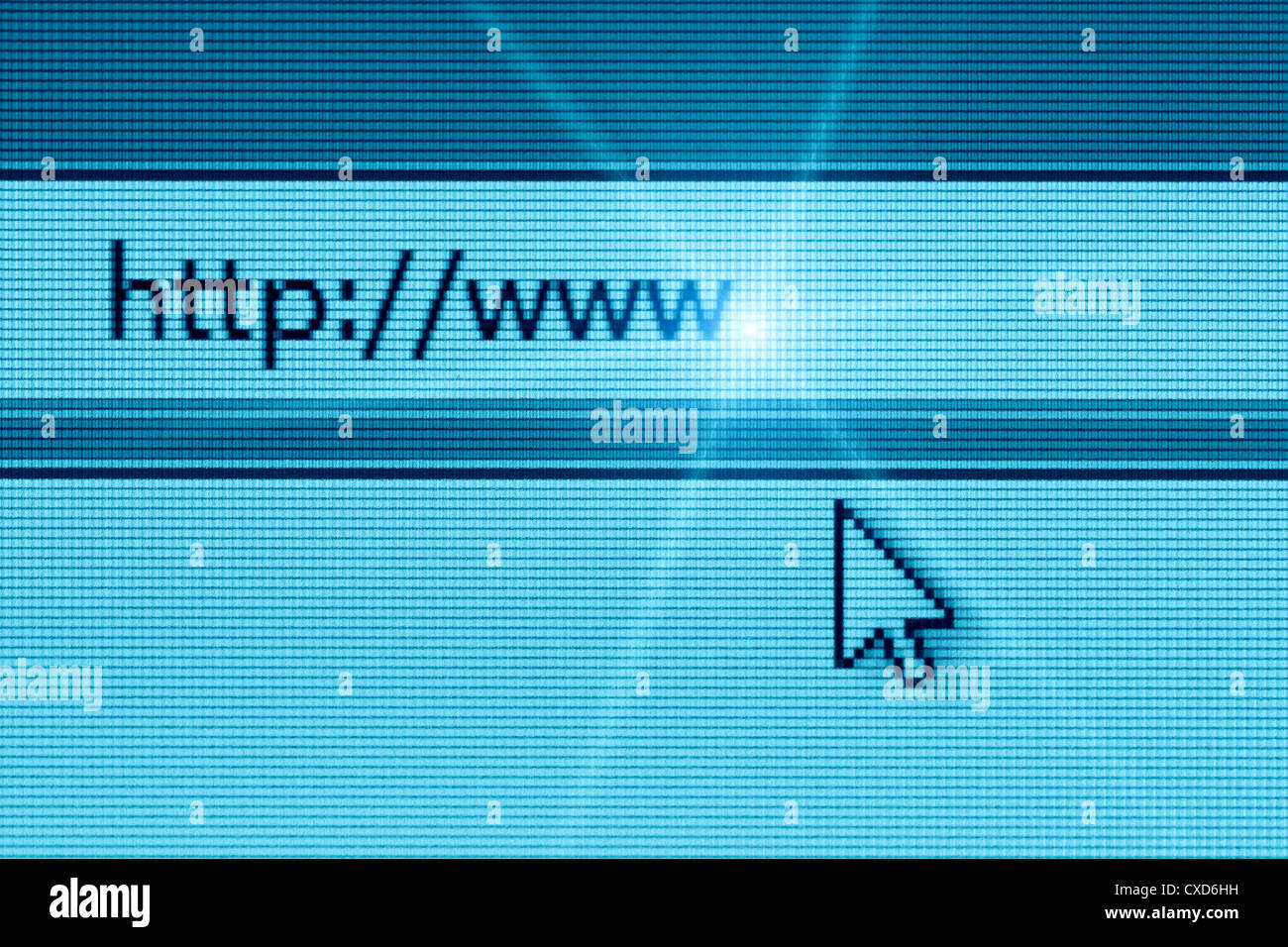 browser in the internet to a website - Stock Image