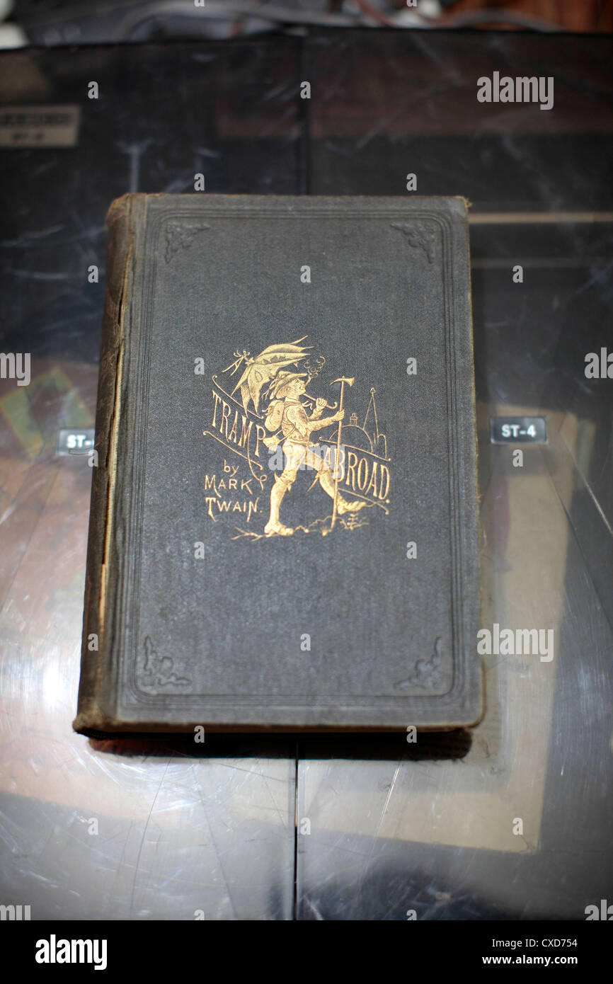 Tramp Abroad old collectible book by Mark Twain. - Stock Image