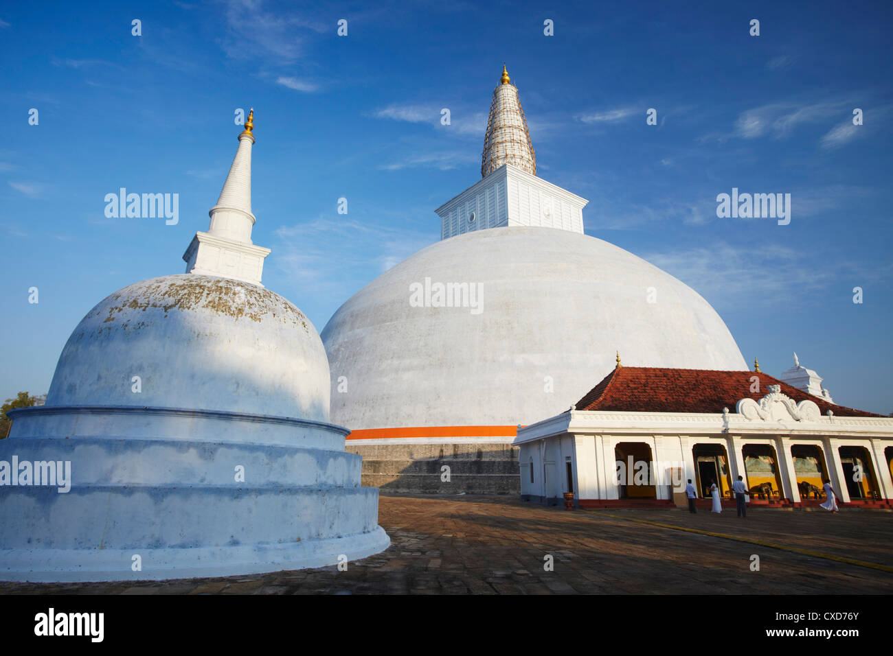 Ruvanvelisaya Dagoba, Anuradhapura, UNESCO World Heritage Site, North Central Province, Sri Lanka, Asia Stock Photo