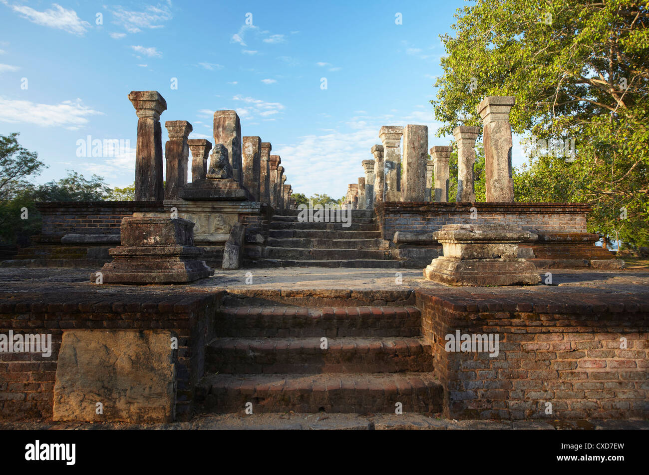 Audience Chamber, Island Gardens, Polonnaruwa, UNESCO World Heritage Site, North Central Province, Sri Lanka, Asia - Stock Image