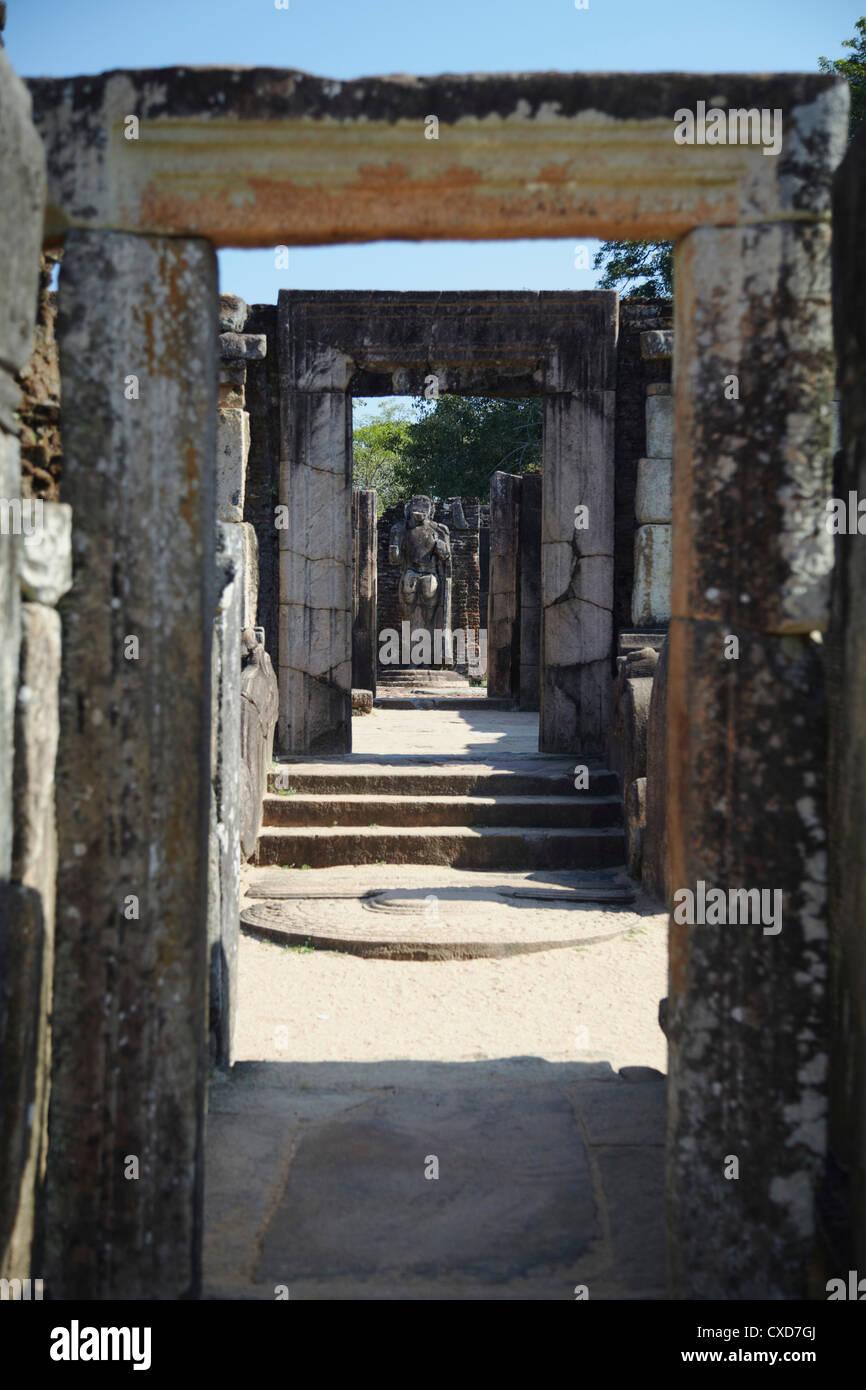 Hatadage, Quadrangle, Polonnaruwa, UNESCO World Heritage Site, North Central Province, Sri Lanka, Asia - Stock Image