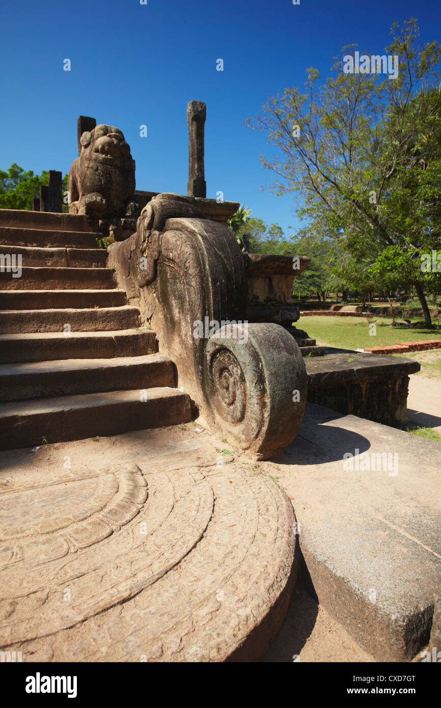Council Chamber, Citadel, Polonnaruwa, UNESCO World Heritage Site, North Central Province, Sri Lanka, Asia - Stock Image