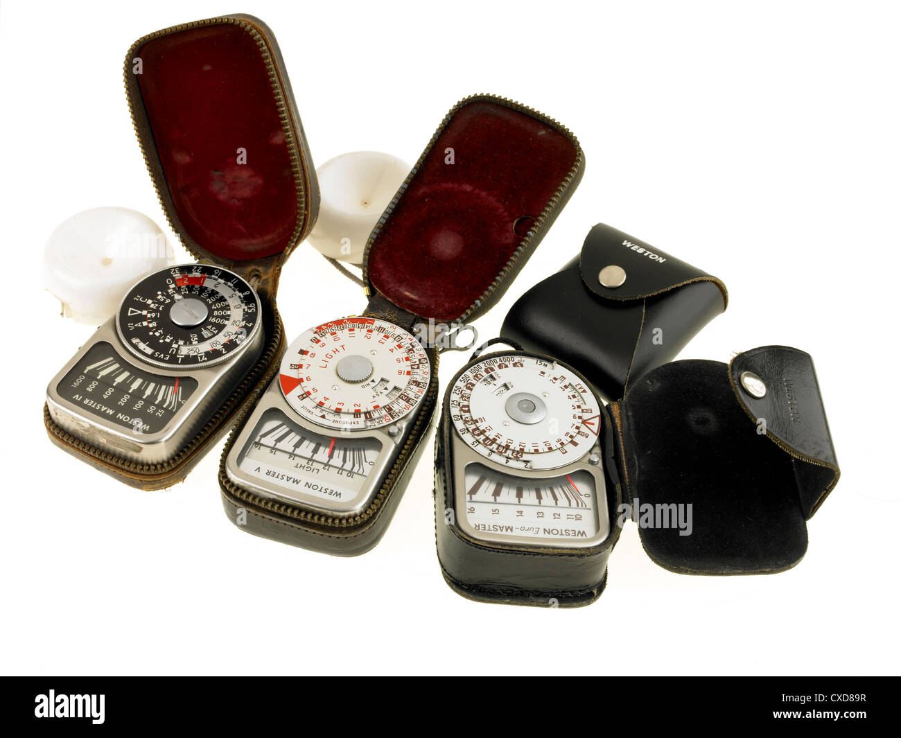 vintage light meters - Stock Image