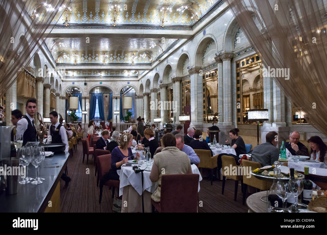 UK, London, the afternoon tea hall of the Criterion restaurant in Piccadilly Circus - Stock Image