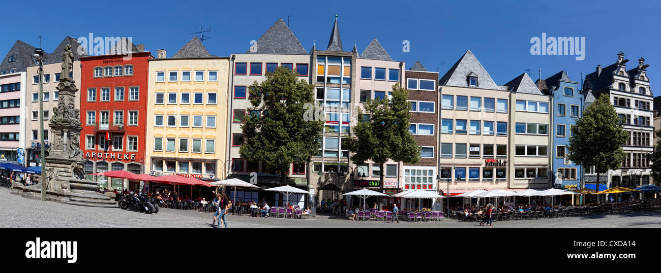 Old town, Alter Markt, old market square, Cologne, North Rhine-Westphalia, Germany, Europe - Stock Image