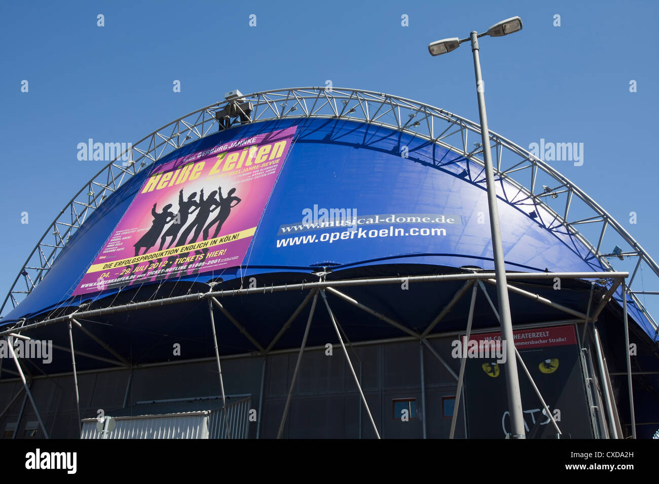 Musical Dome, Cologne, North Rhine-Westphalia, Germany, Europe, - Stock Image