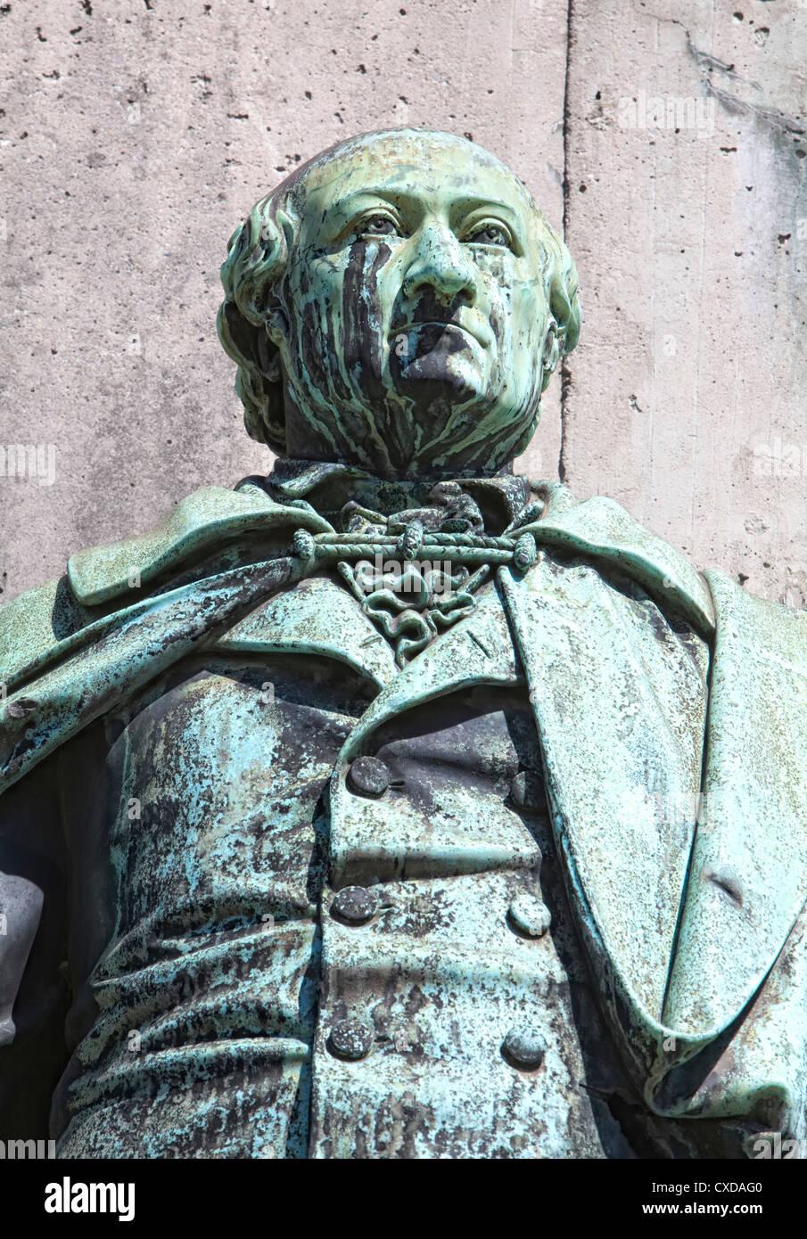 Statue of Karl Sigmund Franz Freiherr vom Stein zum Altenstein, 1770-1840, Prussian politician, Cologne, Germany, - Stock Image