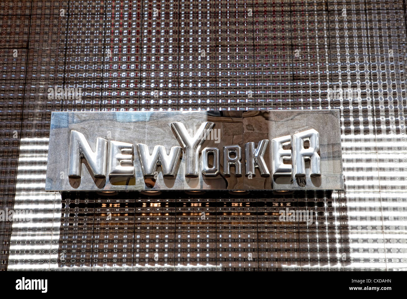 Lettering, logo of the New Yorker fashion company, Cologne, Germany, Europe - Stock Image