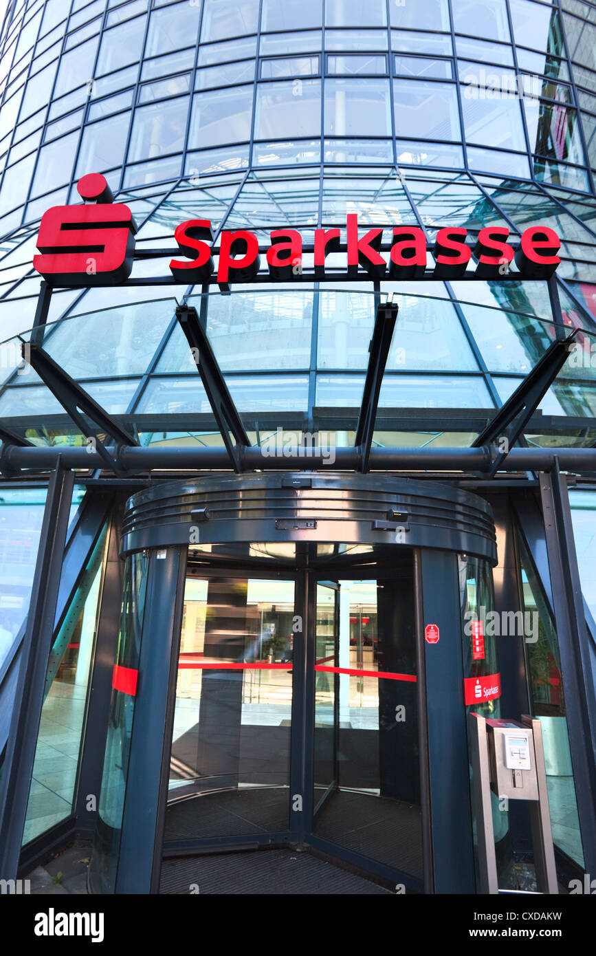 Main building of the society Sparkasse Cologne-Bonn or Stadtsparkasse Cologne, head office, Cologne, Germany, Europe - Stock Image
