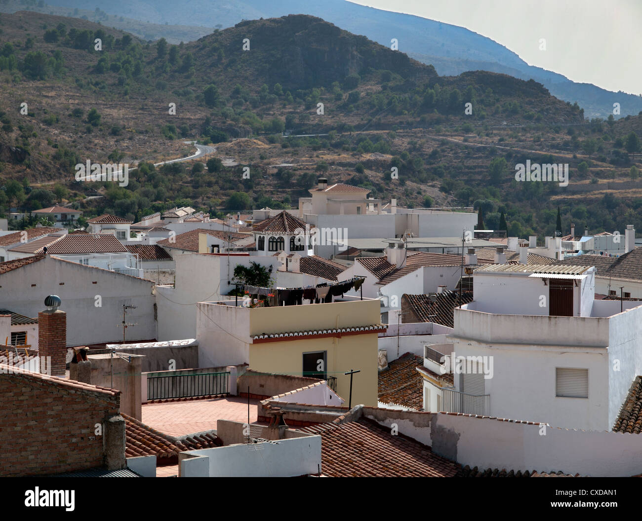The traditional Spanish village of Velez de Benaudalla in ...