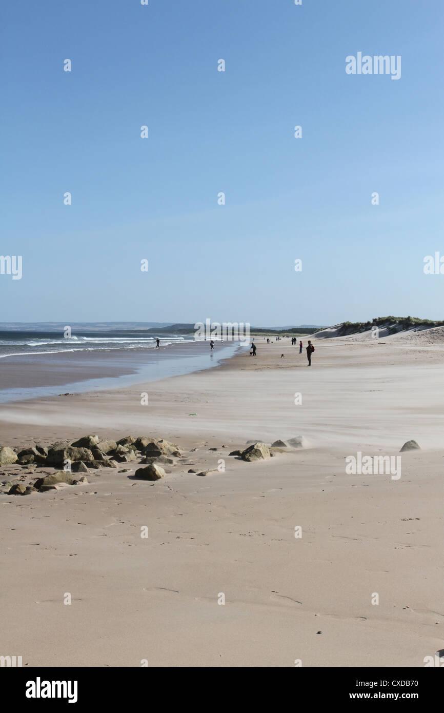 Lossiemouth beach Scotland September 2012 - Stock Image