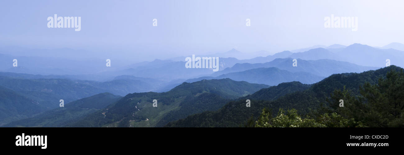 faraway mountain ranges - Stock Image