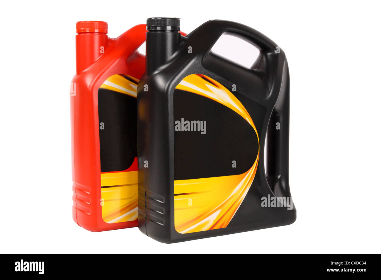 two bottle of engine oil - Stock Image