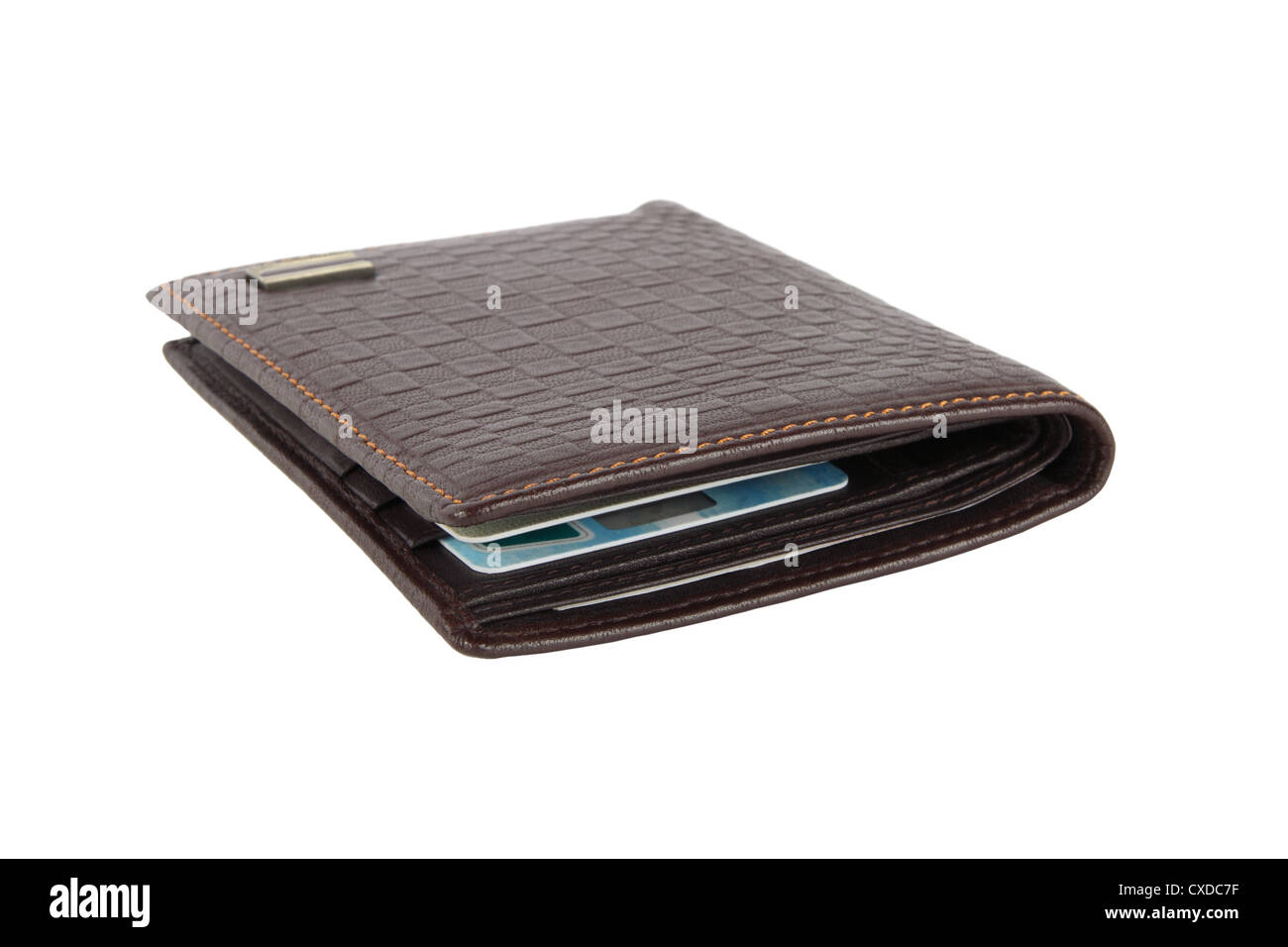 leather wallet - Stock Image