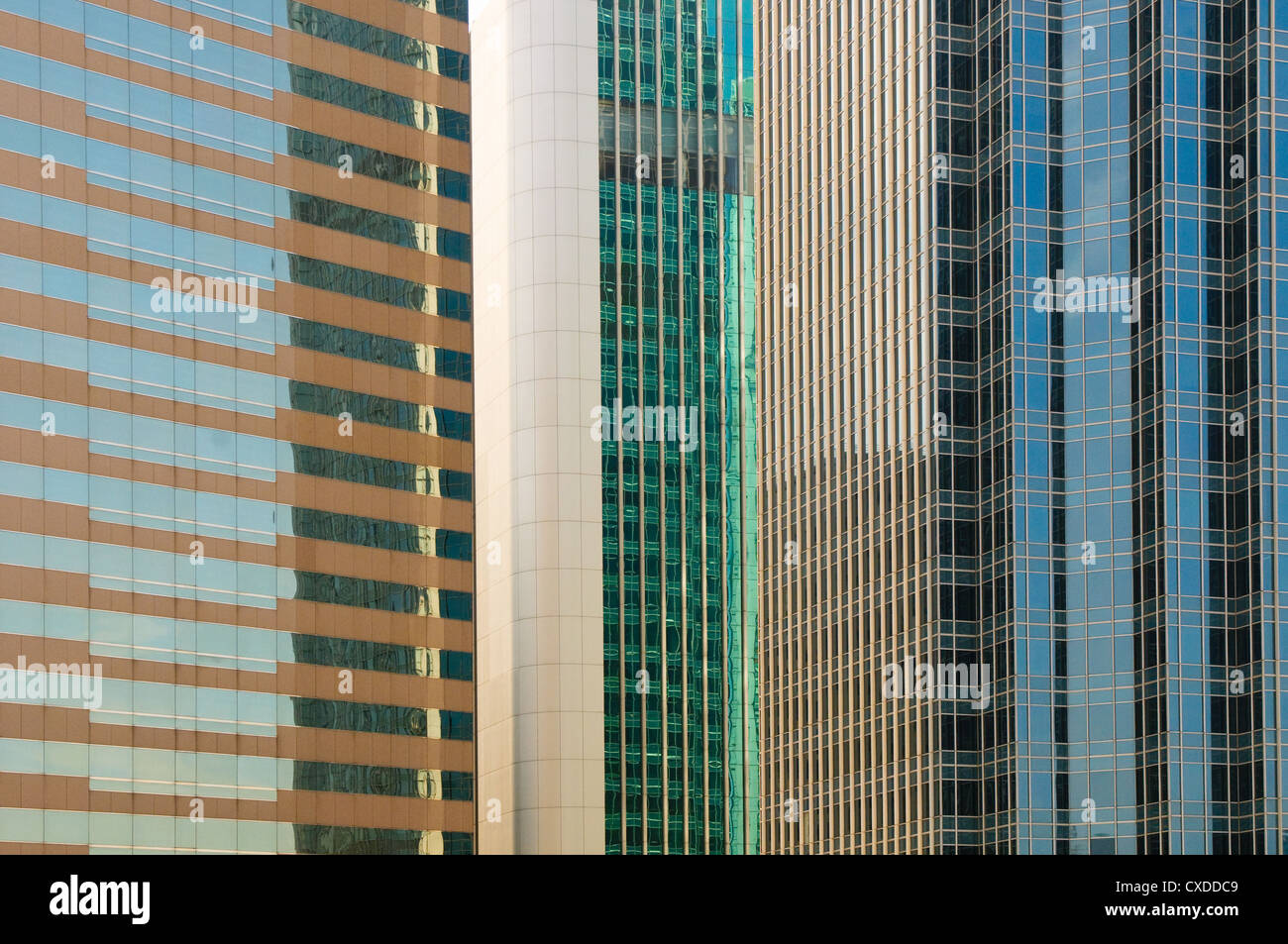 windows of office buildings - Stock Image