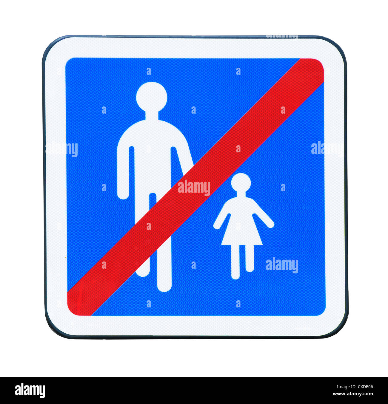 No pedestrian traffic sign - Stock Image