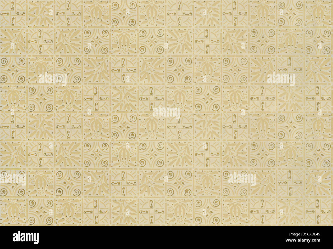 Circa 1880s Victorian wallpaper. This authentic fragment can be repeated or tiled. - Stock Image