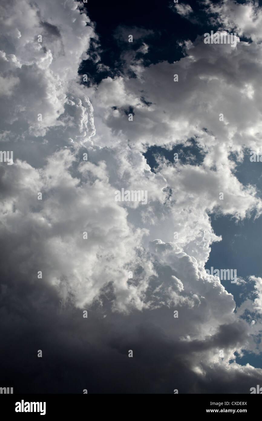 Ragged edge of cumulonimbus cloud. - Stock Image