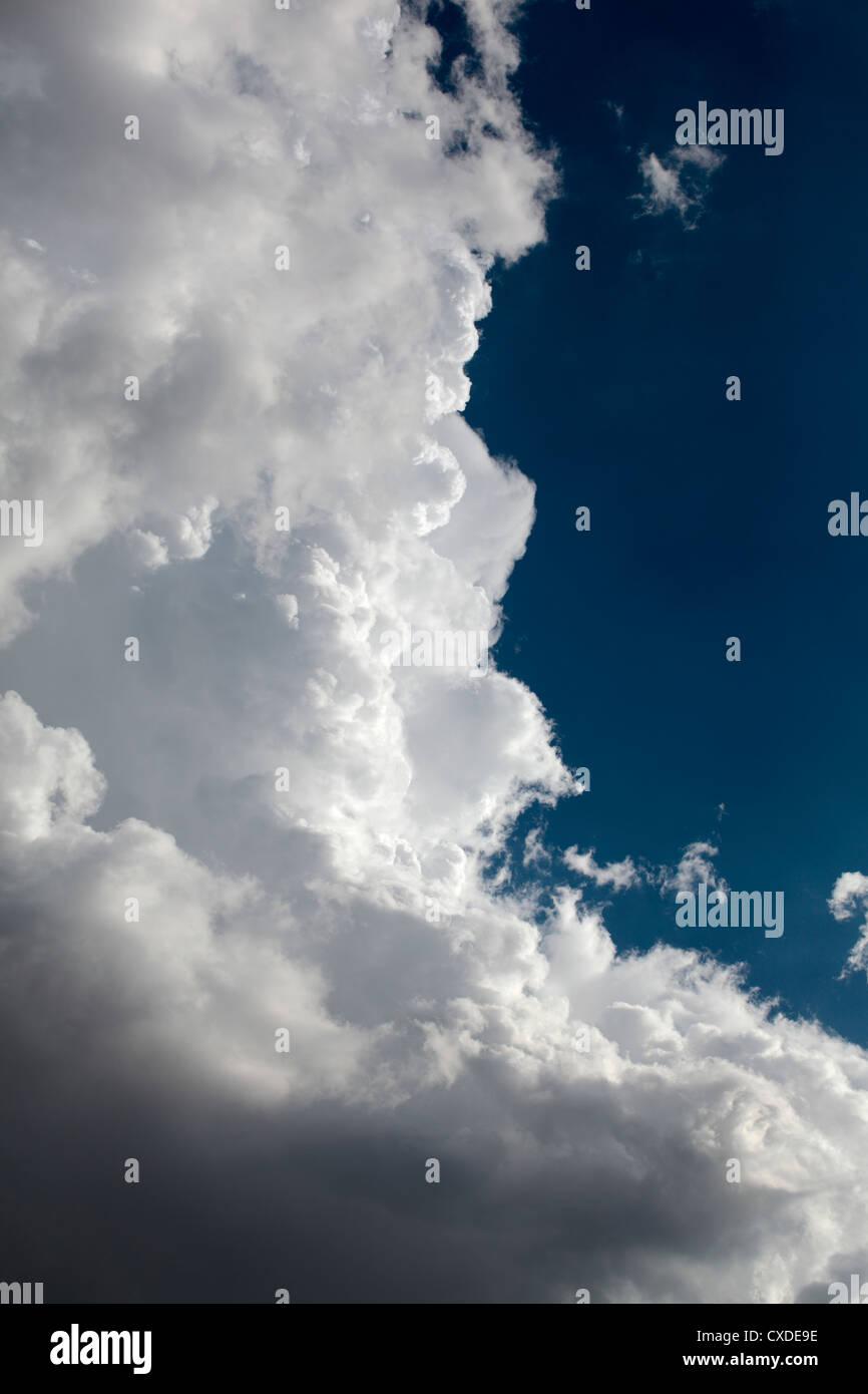 Edge of a cumulonimbus cloud. - Stock Image
