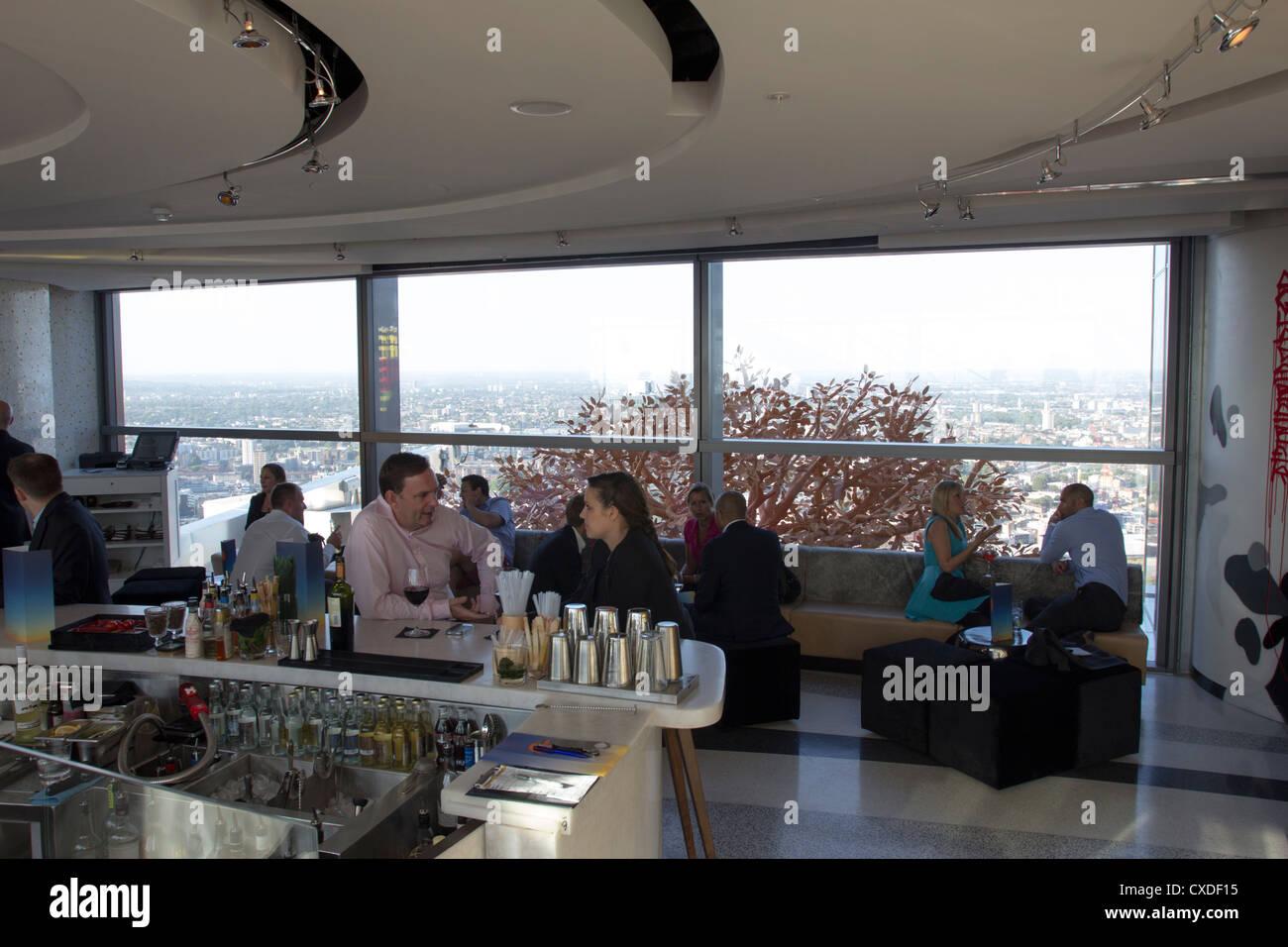 Sky Bar - 39th Floor Heron Tower - City of London - Stock Image