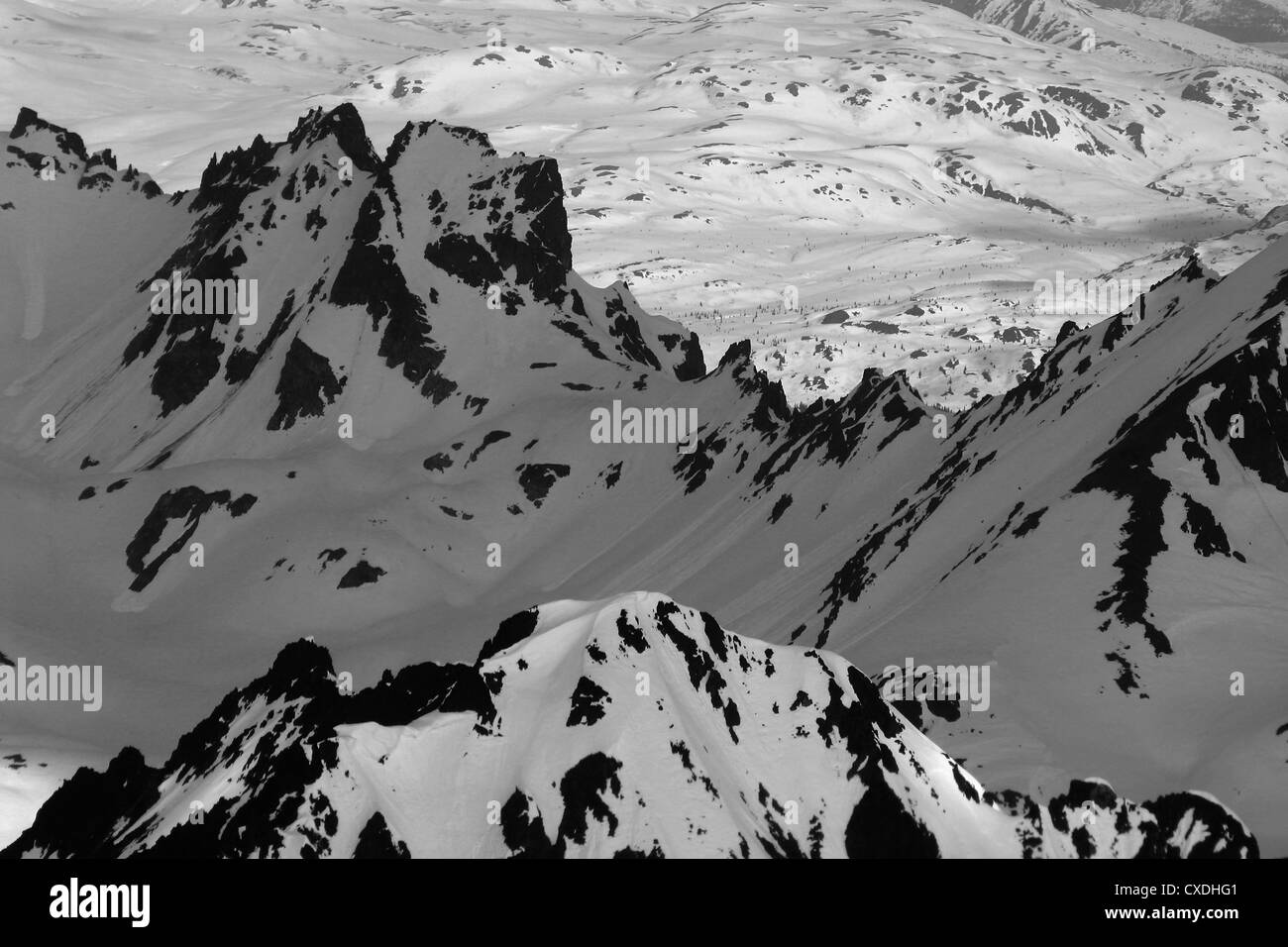 Aerial view of the mighty Alaska Range - Stock Image