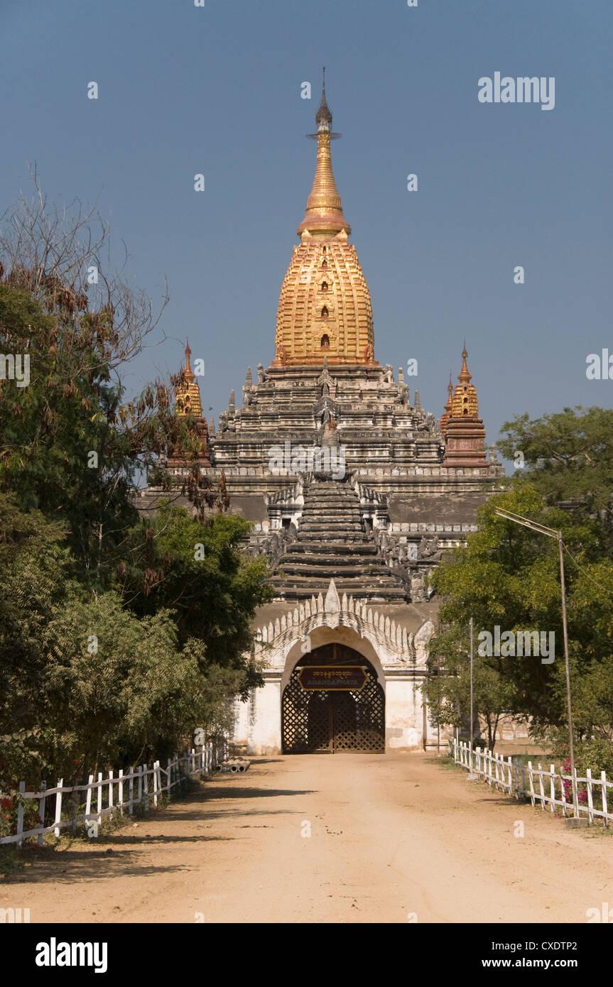 Ananda Pahto, Bagan (Pagan), Myanmar (Burma), Asia - Stock Image