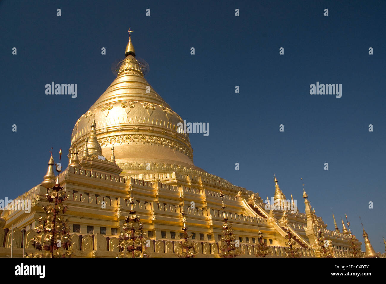Shwezigon Paya, Bagan (Pagan), Myanmar (Burma), Asia Stock Photo