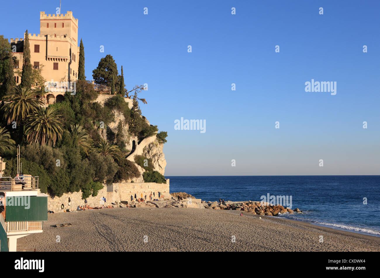 Beach, Finale Ligure, Liguria, Italy Stock Photo
