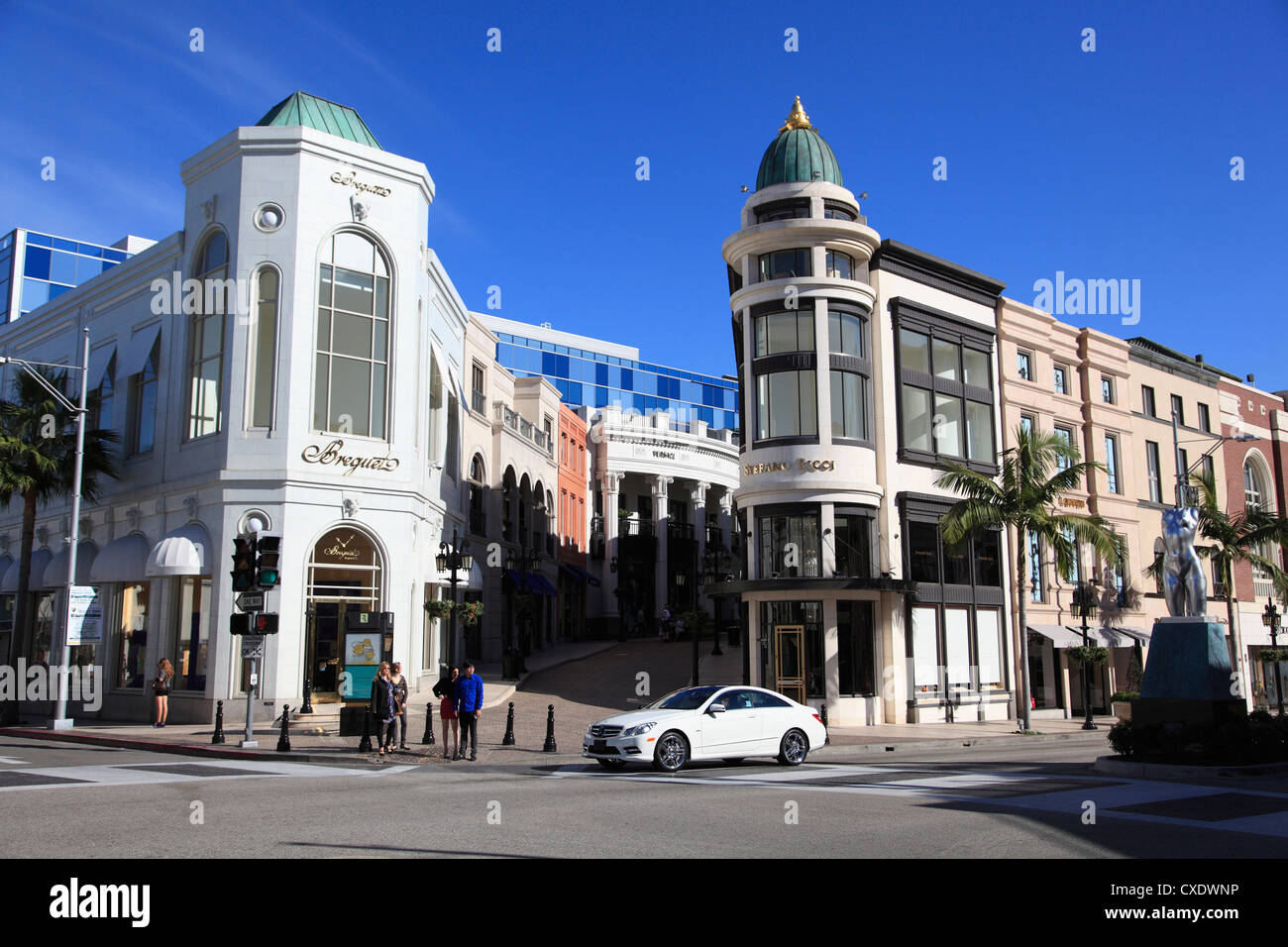 Rodeo Drive, Beverly Hills, Los Angeles, California, USA - Stock Image