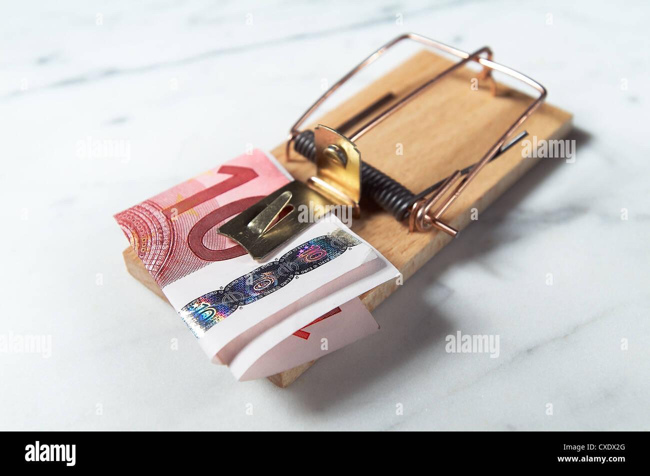 Hamburg, Symbolic Cost trap Stock Photo