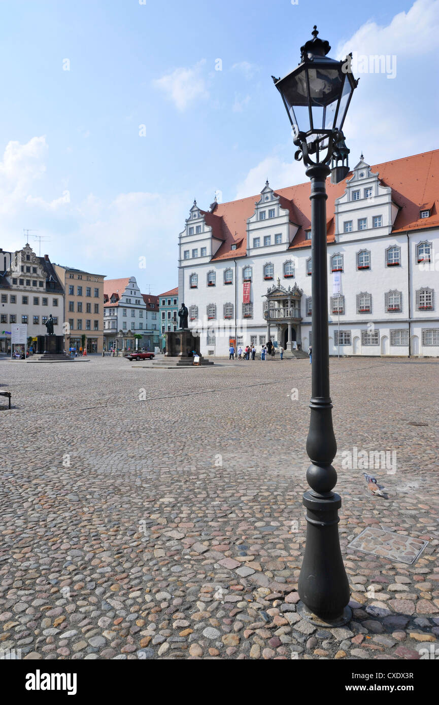UNESCO World Heritage Site, Luther's town of Wittenberg (Lutherstadt Wittenberg), Saxony-Anhalt, Germany, Europe - Stock Image