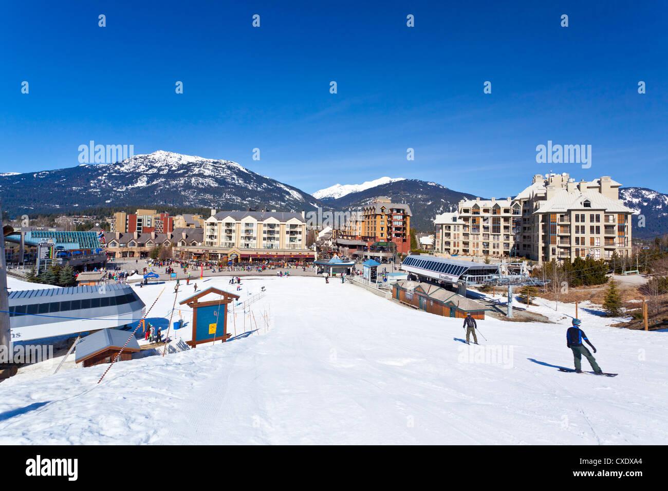 Whistler Blackcomb Ski Resort, Whistler, British Columbia, Canada, North America Stock Photo