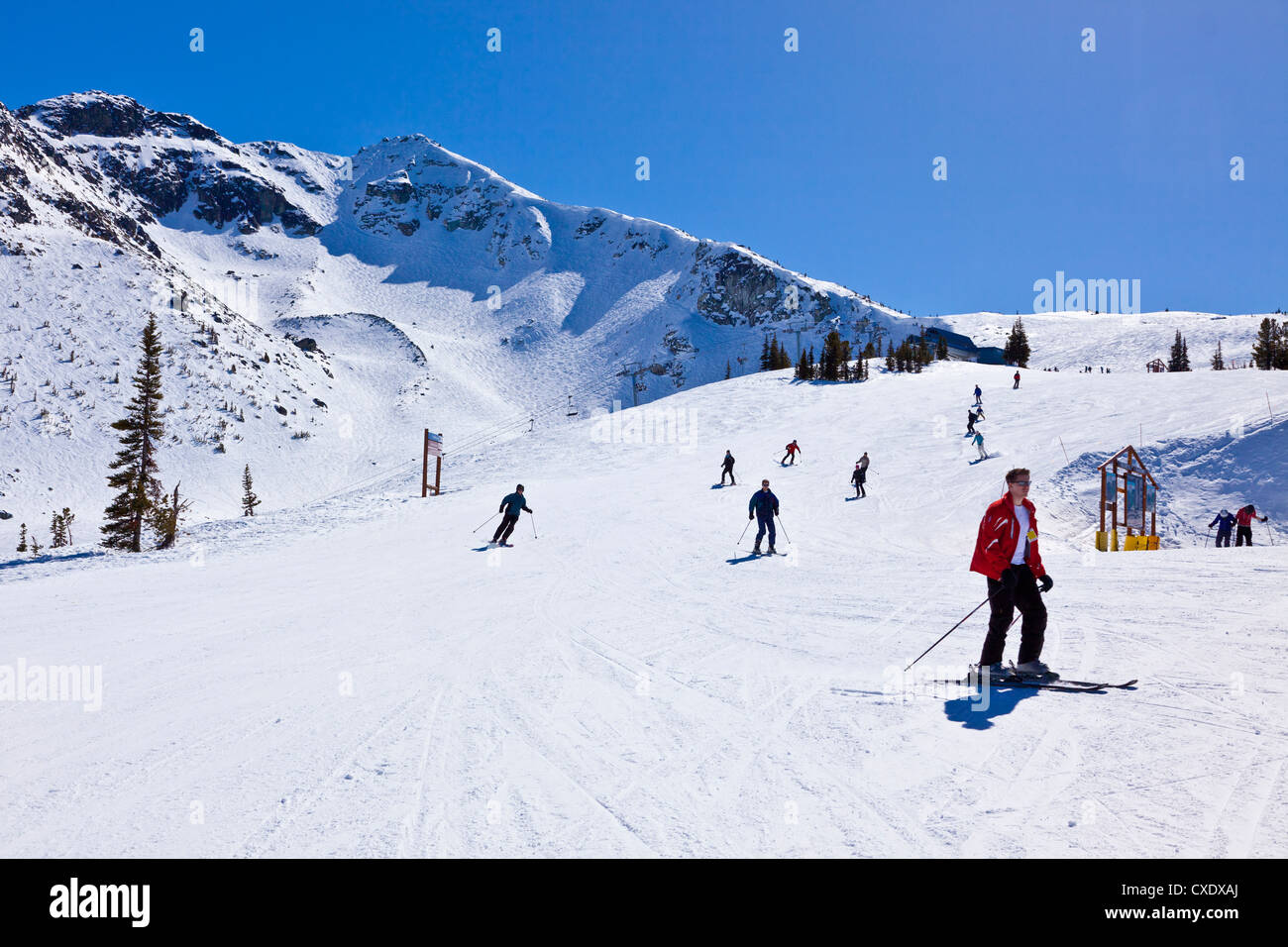 whistler blackcomb ski resort, whistler, british columbia, canada