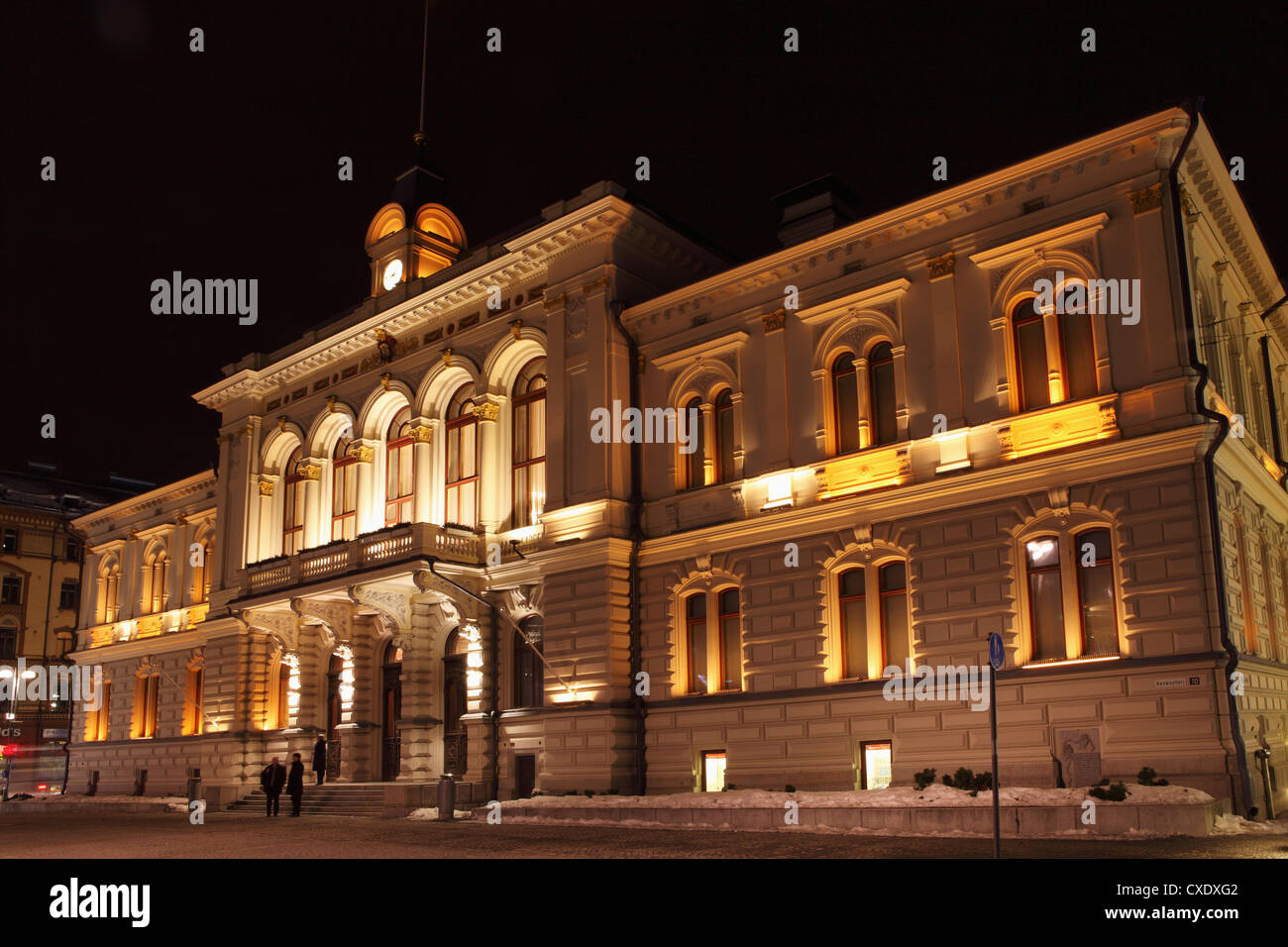 Tampere Town Hall, neo-renaissance style, Georg Schreck designed and built 1890, Central Square (Keskustori), Tampere, - Stock Image