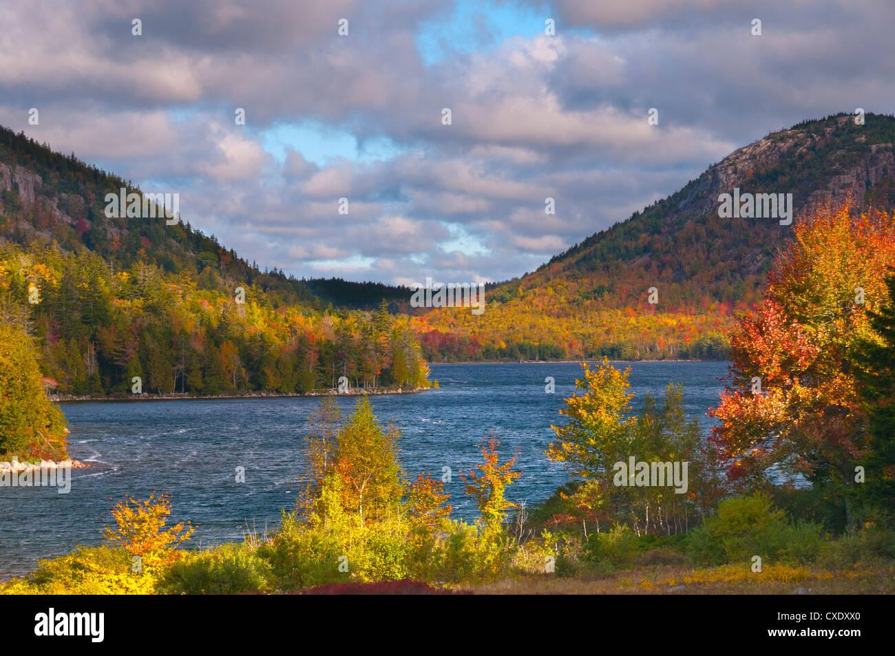 Eagle Lake, Acadia National Park, Mount Desert Island, Maine, New England, United States of America, North America - Stock Image