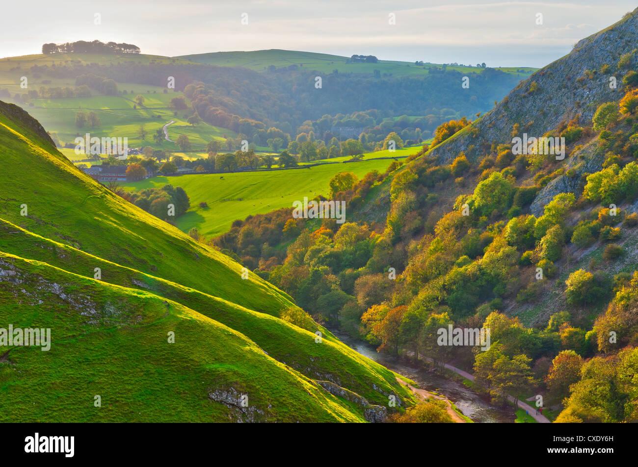 Dovedale, Peak District National Park, Derbyshire, England - Stock Image