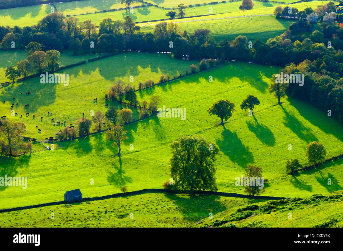 River Manifold Valley near Ilam, Peak District National Park, Derbyshire, England Stock Photo