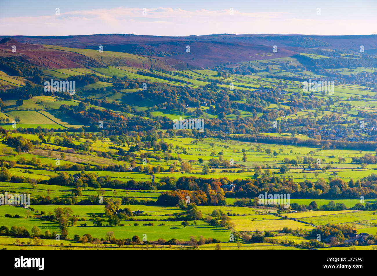 Hope Valley, Peak District National Park, Derbyshire, England - Stock Image