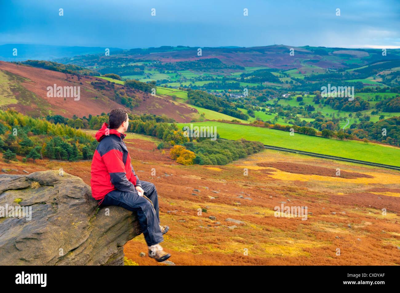 Stanage Edge, Peak District National Park, Derbyshire, England - Stock Image