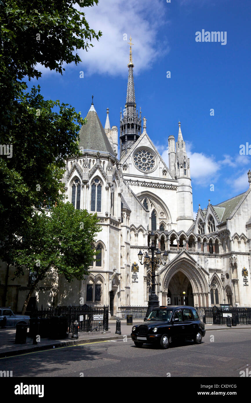 Royal Courts of Justice, City of London, England, United Kingdom, Europe Stock Photo